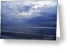 Moody Blue Beach Greeting Card