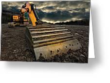 Moody Excavator Greeting Card