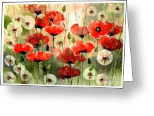 Moody Poppies In The Afternoon Greeting Card