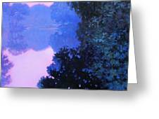 Moody River Greeting Card