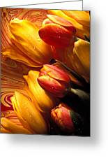 Moody Tulips Greeting Card
