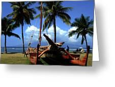 Moolele Canoe At Hui O Waa Kaulua Lahaina Greeting Card