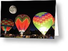 Moon And Balloons Greeting Card