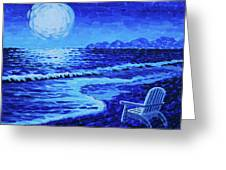 Moon Beach Greeting Card by Tommy Midyette