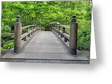 Moon Bridge In Spring Greeting Card