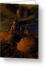 Moon Chorus Greeting Card