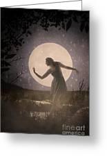 Moon Dance 001 Greeting Card