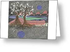Moon Dusk Greeting Card