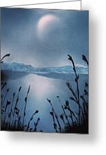 Moon Fog Greeting Card
