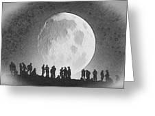 Moon - Id 16236-105000-9534 Greeting Card