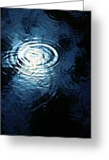 Moon In The Water Greeting Card