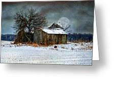 Moon Light Barn Greeting Card