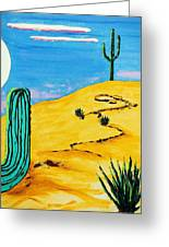 Moon Light Cactus R Greeting Card