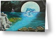 Moon Light Swim  Greeting Card