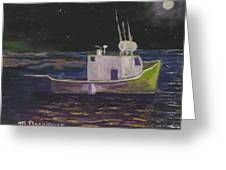 Moon Lit Night Greeting Card