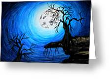 Moon Lit Greeting Card