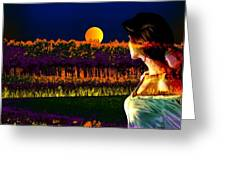 Moon Love Greeting Card