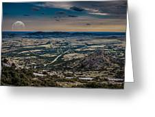 Moon On The Plains Greeting Card