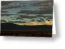 Moon Over Albuquerque Greeting Card