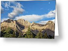 Moon Over Canmore Alberta Greeting Card