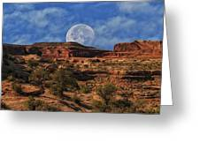 Moon Over Canyonlands Greeting Card