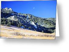 Moon Over Chautauqua Greeting Card