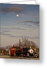 Moon Over Engine 509 Greeting Card