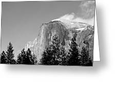 Moon Over Half Dome Greeting Card