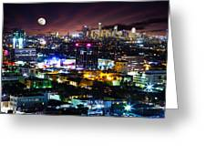 Moon Over Los Angeles Greeting Card
