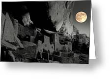 Moon Over Mesa Verde.. Greeting Card