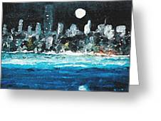 Moon Over Miami Greeting Card by Jorge Delara
