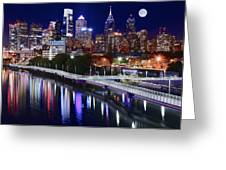 Moon Over Philly Greeting Card