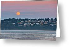 Moon Over Steilacoom Greeting Card