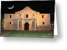 Moon Over The Alamo Greeting Card by Carol Groenen
