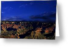 Moon Over The Canyon Greeting Card