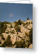 Moon Over The Hills Greeting Card