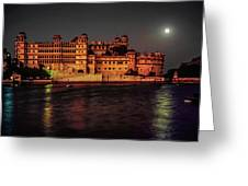 Moon Over Udaipur Greeting Card