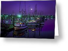 Moon Over Winchester Bay Greeting Card