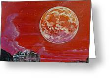Moon Over Yosemite Greeting Card by Joel Tesch