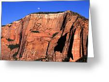 Moon Over Zion Greeting Card