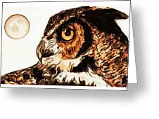 Moon Owl Greeting Card