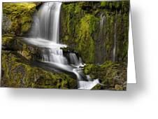 Moon Pass Waterfall Greeting Card