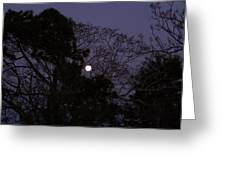 Moon Rise Greeting Card