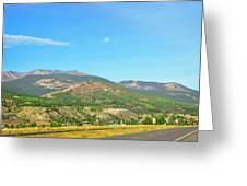 Moon Shine On Anaconda Montana  Greeting Card