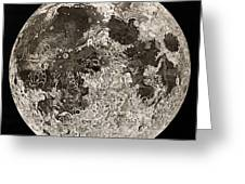 Moon Surface By John Russell Greeting Card
