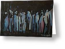 Moon Watchers Greeting Card by Paula Marsh