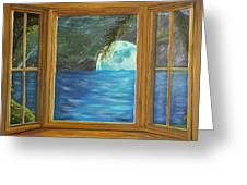 Moon Window Greeting Card