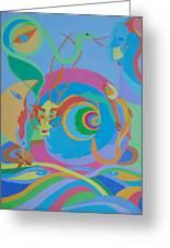 Moonbird In A Dragon Spiral Greeting Card