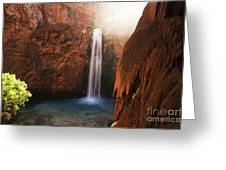 Mooney Falls Grand Canyon 1 Greeting Card