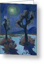 Moonlight And Joshua Tree Greeting Card